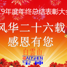 祝贺白云山宝神2019年度总结暨表彰大会圆满落幕